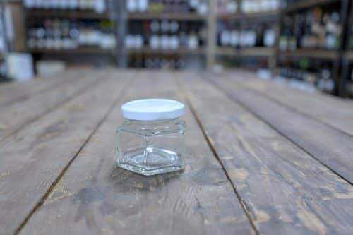 Vasetto in Vetro Esagonale - Miele e Confettura - Capacità 106 cc