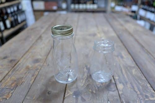 Bottiglia Bormioli in vetro adatta per la Passata di Pomodoro con Tappo a Capsula. Disponibile in due capacità: 200cc e 400cc